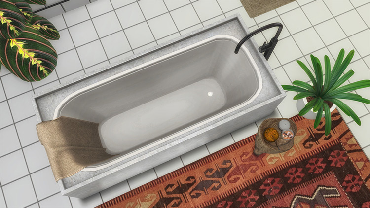 Orama Bathroom Bathtub - Sims 4 CC