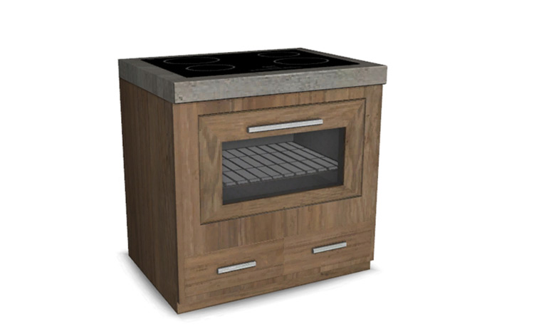 Kayo Kitchen Stove CC for The Sims 4