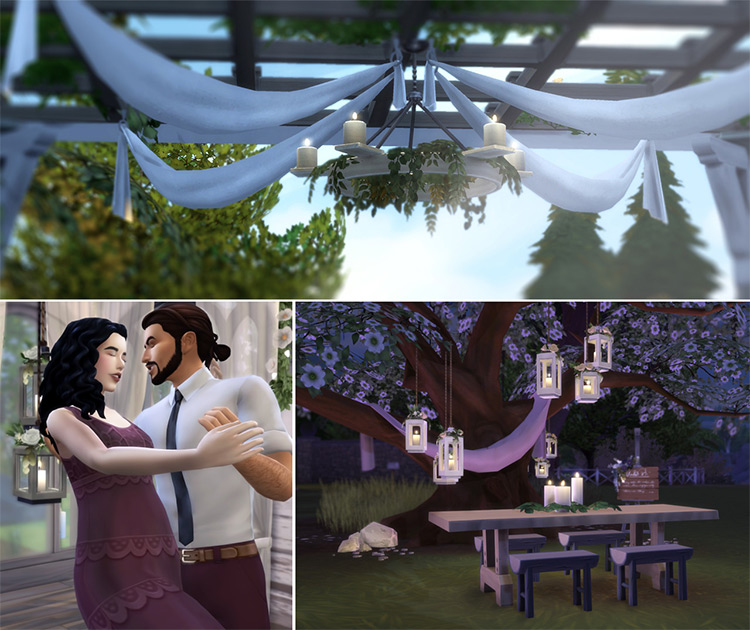 Ivy Rustic Chandelier light - Sims 4 CC