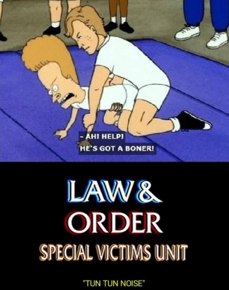 Beavis wrestling - Law & Order SVU meme