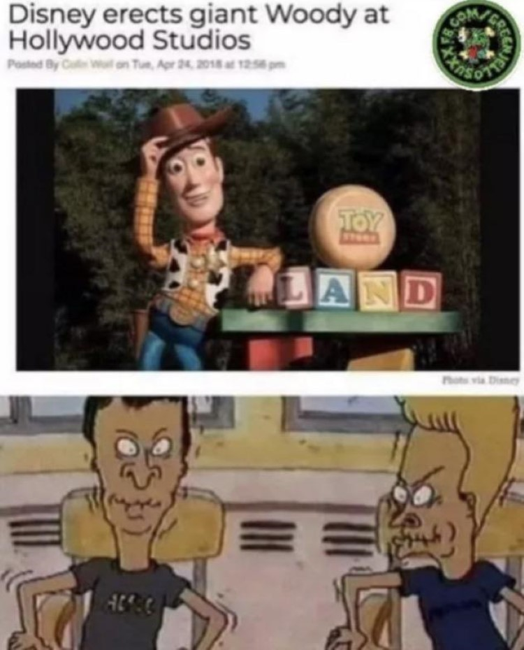Beavis & butthead holding in laughter meme