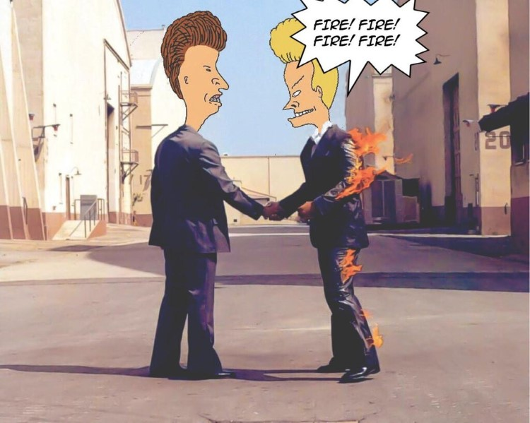 Fire! Fire! Beavis meme