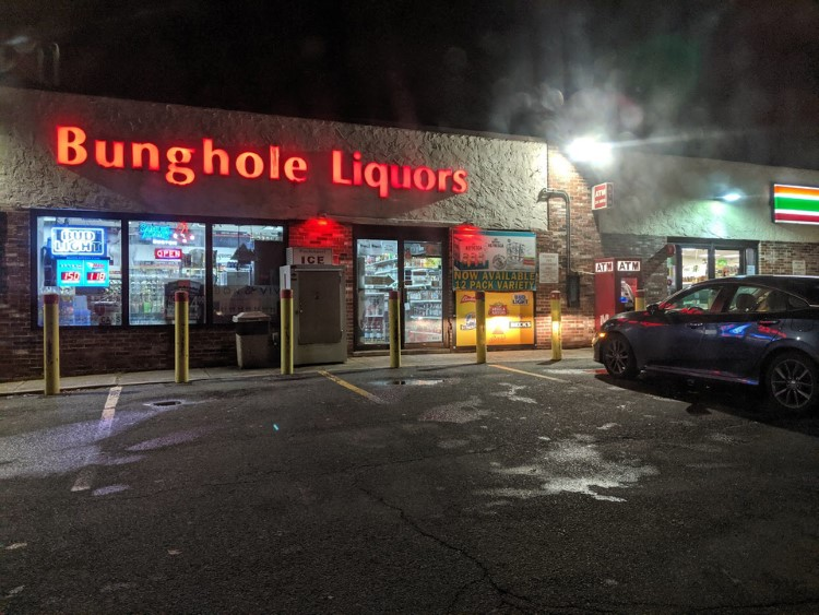 Bunghole Liquors store - Beavis & Butthead meme