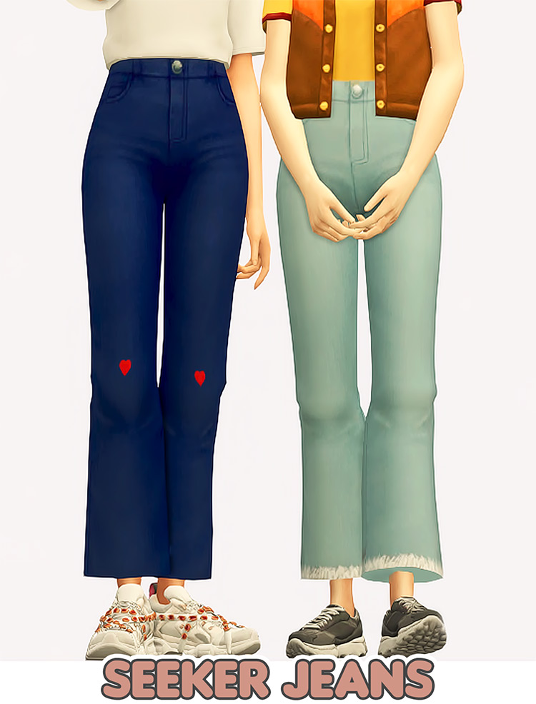 Seeker Jeans in The Sims 4