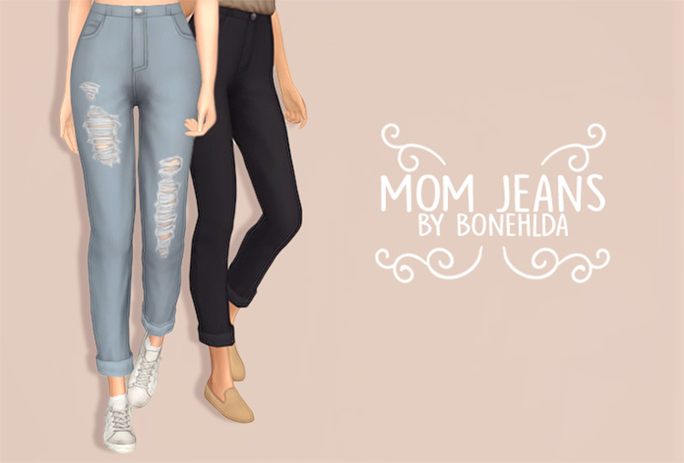Mom Jeans CC for The Sims 4