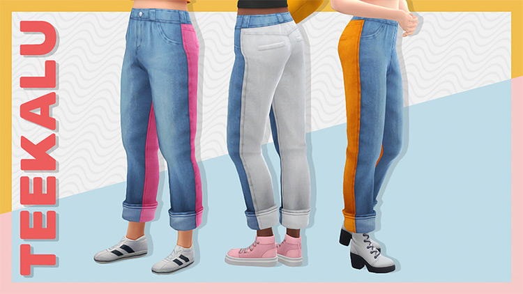 Duotone Jeans CC for The Sims 4