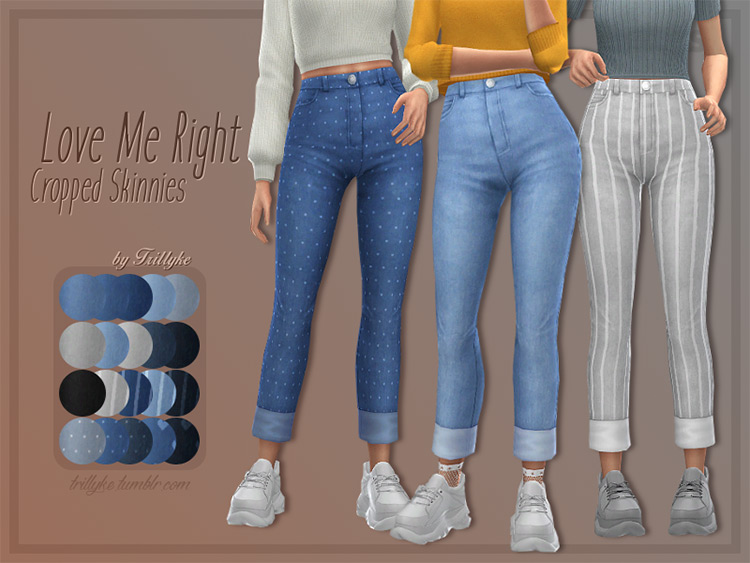 Love Me Right Cropped Skinnies for girls - TS4 CC