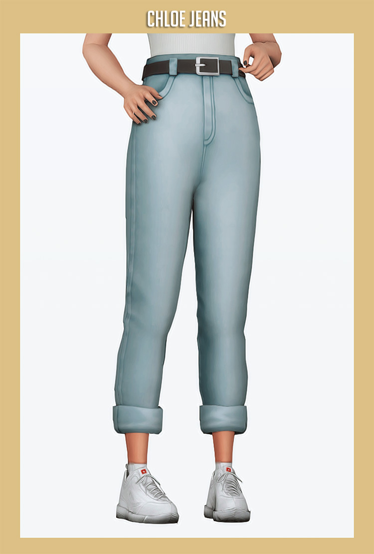 Chloe Jeans Mod for Sims 4