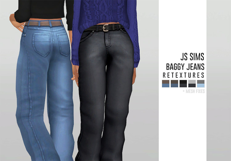Baggy Jeans Custom Content for Sims 4