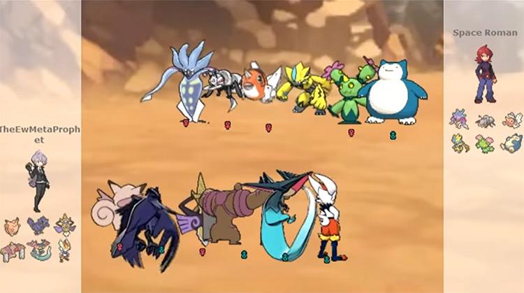 Pokémon Showdown ROM hack screenshot