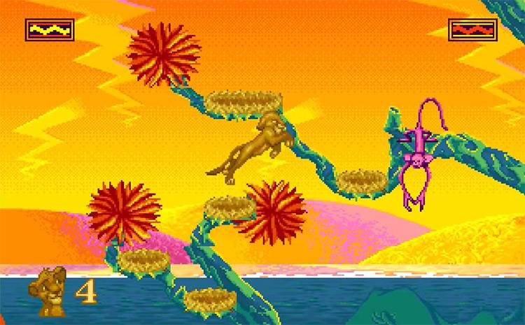 The Lion King game screenshot