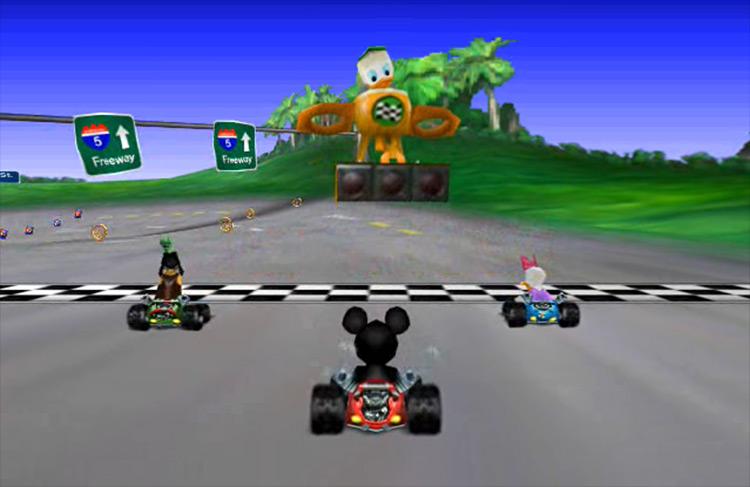 Mickey's Speedway gameplay screenshot