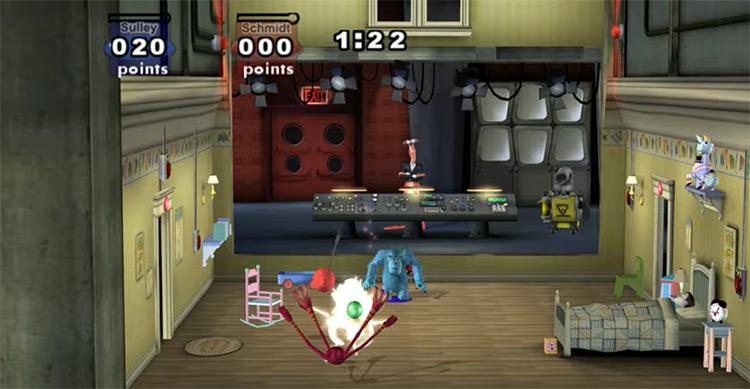 Monsters, Inc. Scream Arena gameplay