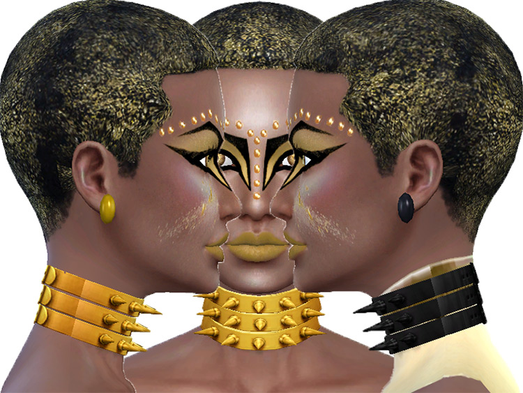 Gold and Black Afro CC