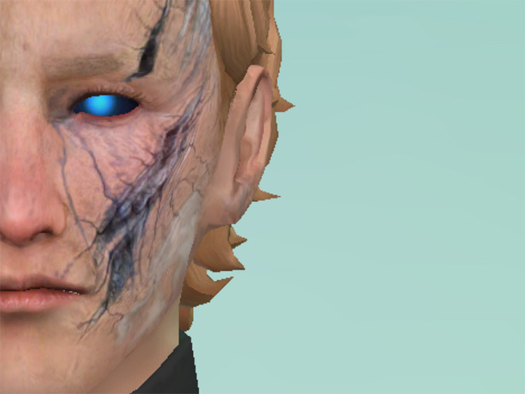Damaged Android Eyes - Sims 4 CC