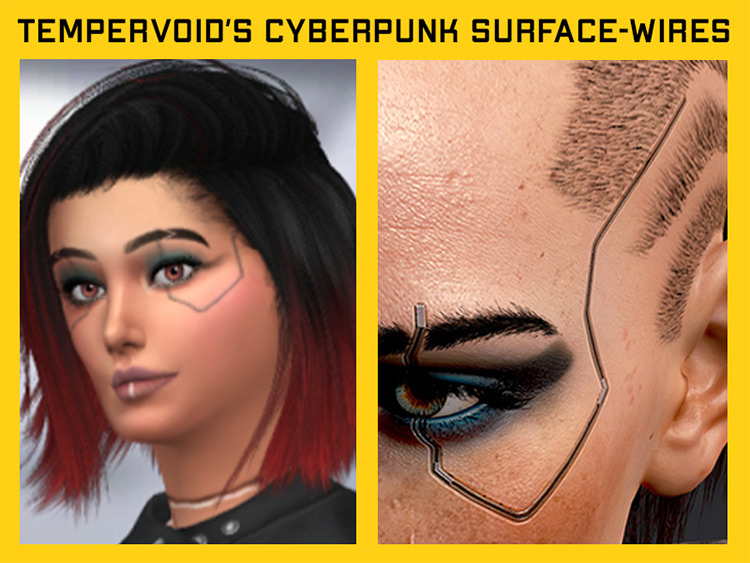 Cyberpunk Surface Wires - Sims 4 CC