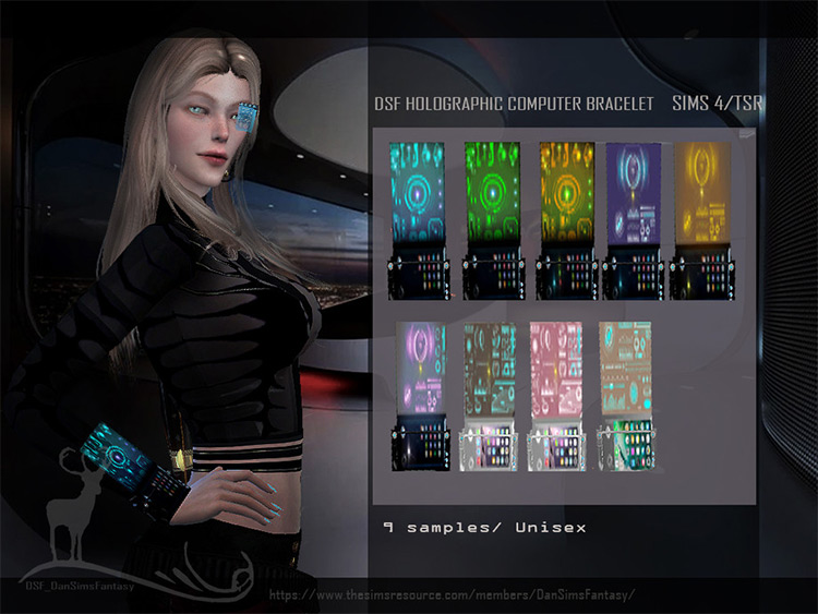 Holographic Computer Bracelet Mod for Sims 4