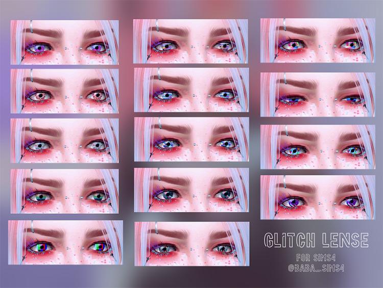 Glitch Lenses Eyes Mod - Sims 4 CC