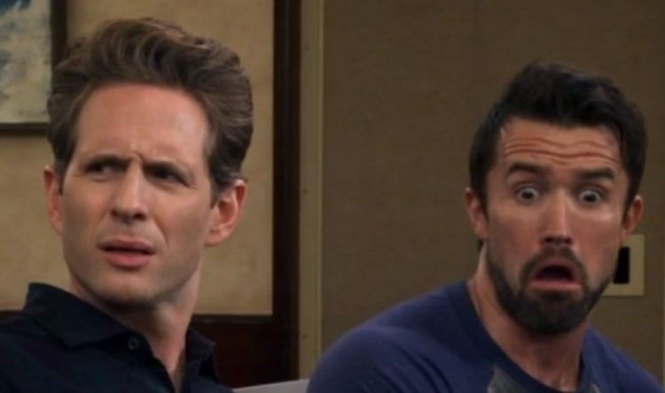 Mac and Dennis shocked/disgusted meme faces