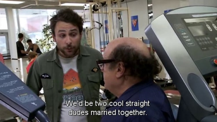 We'd be two cool straight dudes married together meme