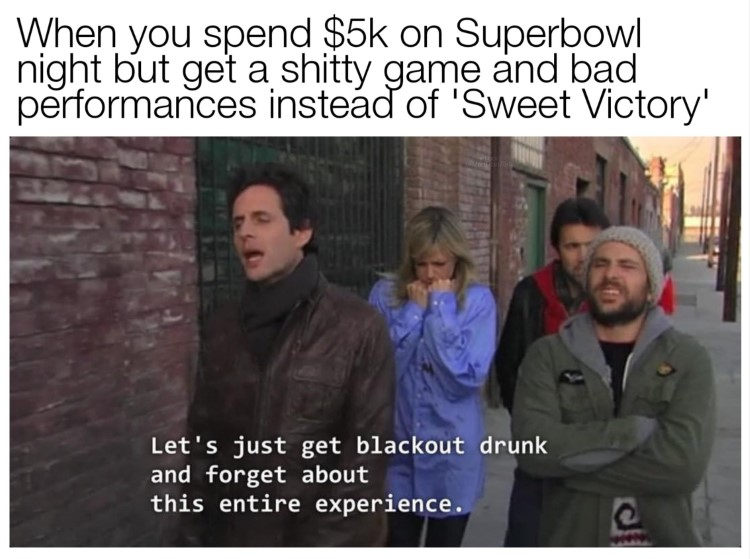 Let's just get blackout drunk and forget about the entire experience