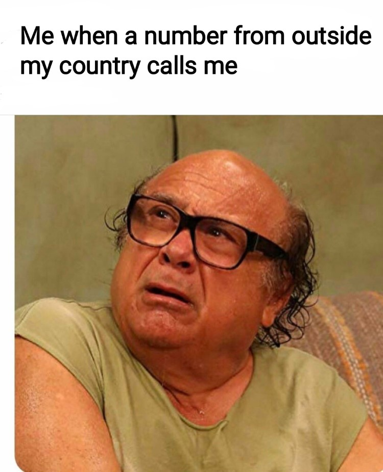 mrw a number from outside my country calls me