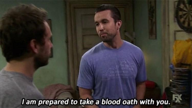 Mac: I am prepared to take a blood oath with you