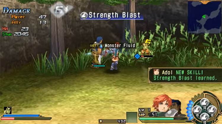 Ys SEVEN gameplay screenshot