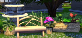 Nature and flowerpots CC/Mods for Sims 4