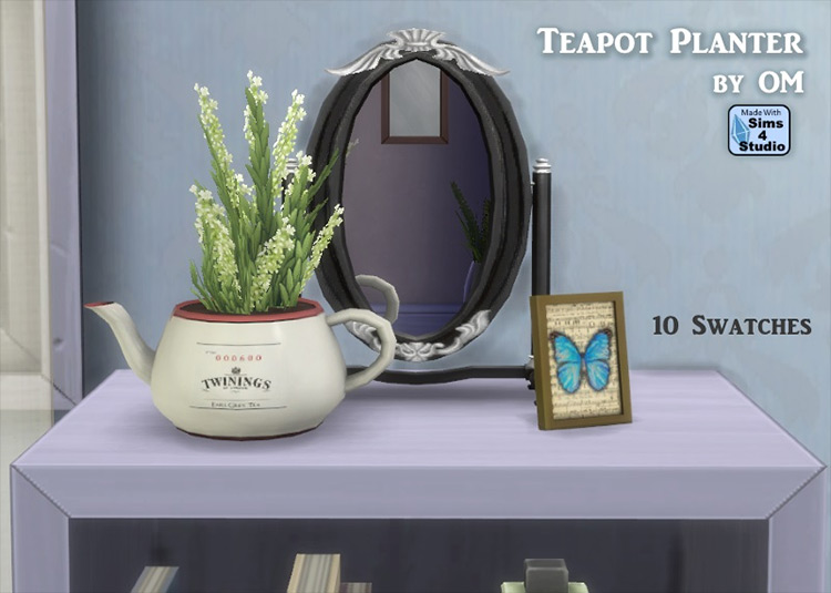 Teapot Planter by OM Sims 4 CC