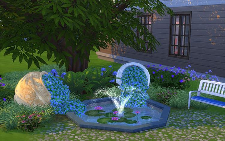 Capsized Flowerpot by Natatanec Sims 4 CC