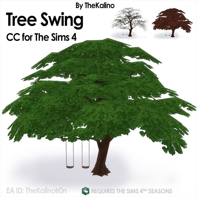 Tree Swing CC by TheKalino Sims 4