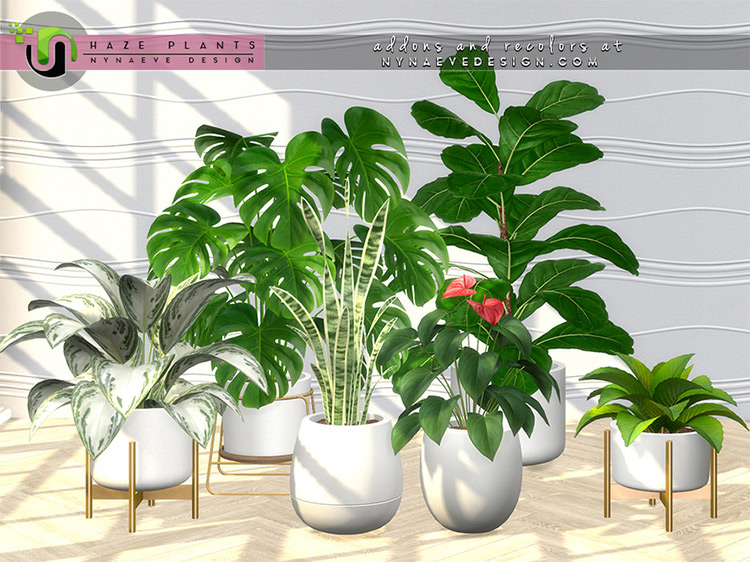 Haze Plants CC for Sims 4 by NynaeveDesign