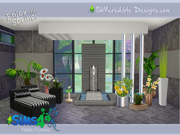 Flora Plants CC for Sims 4 by SIMcredible!