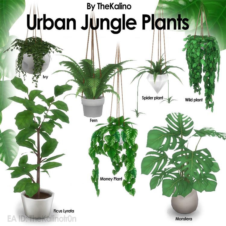 Urban Jungle Plants by TheKalino Sims 4 CC