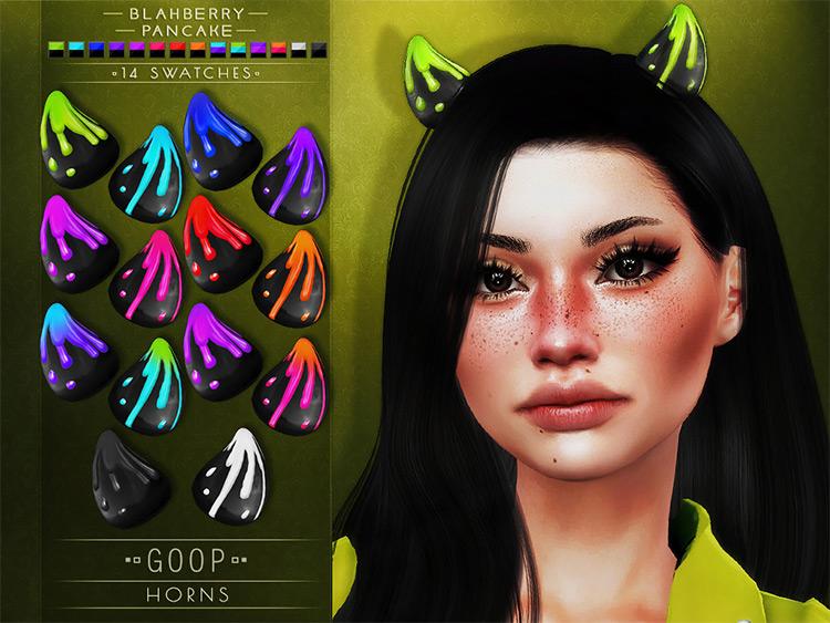Goop Horns CC by Blahberry Pancake Sims 4