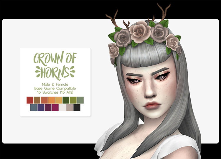 Capricorn Horn Accessory CC for Sims 4 by Screaming Mustard