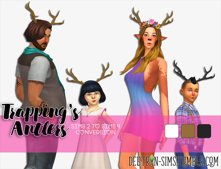 Trapping's Antlers CC for Sims 4 by Deetron Sims