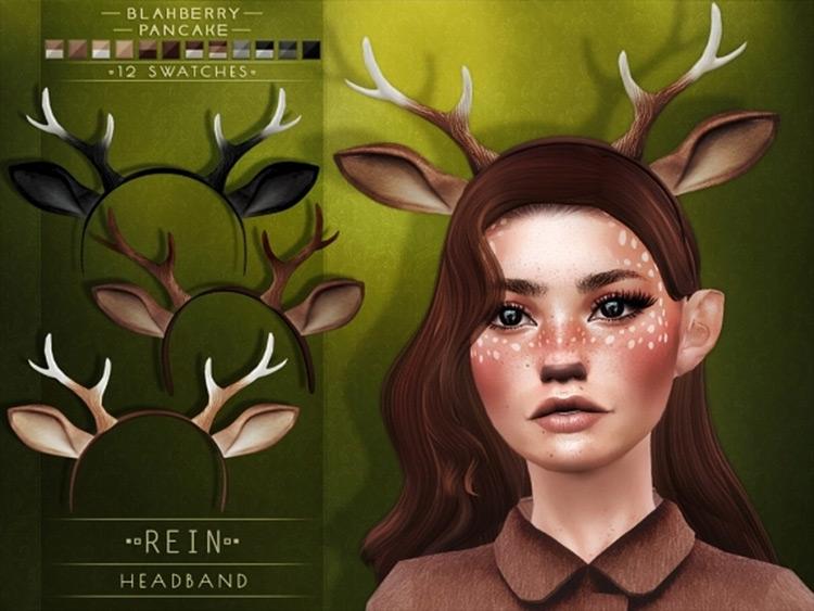 Rein Headband CC by Blahberry Pancake Sims 4