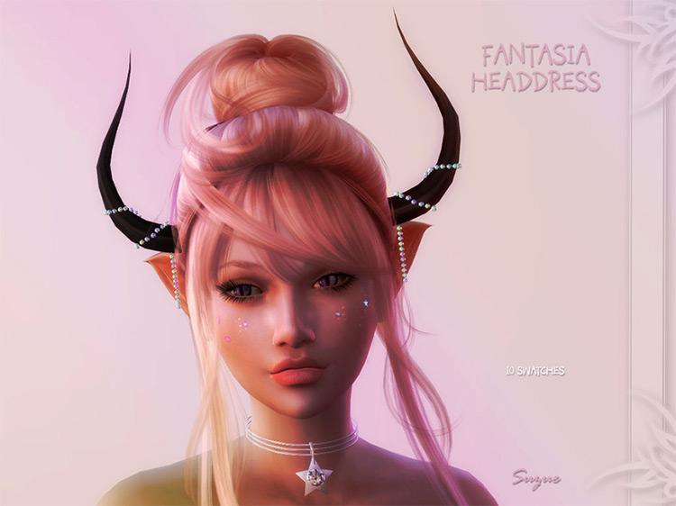 Fantasia Headdress by Suzue Sims 4 CC