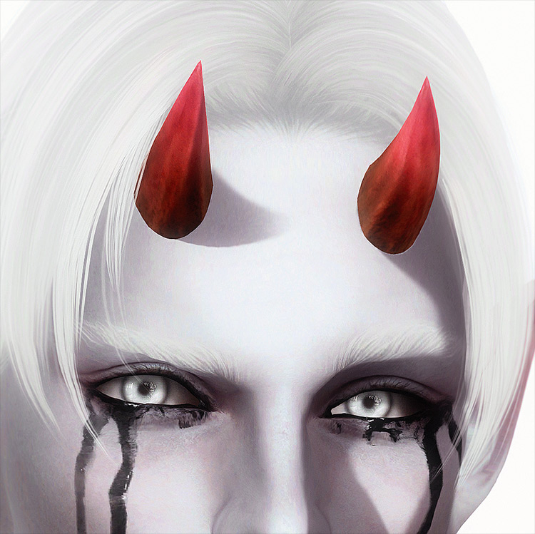 Little Demon Horns by Rotteneyed & Cerberus-Sims CC