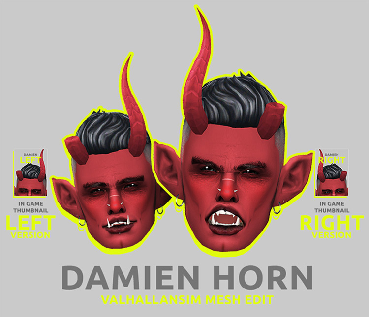 Horns Pack – Valhallansim Mesh Edit by Gerbithats Sims 4
