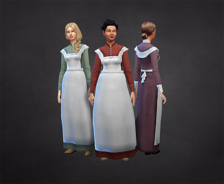 Mrs White maid outfit CC - TS4