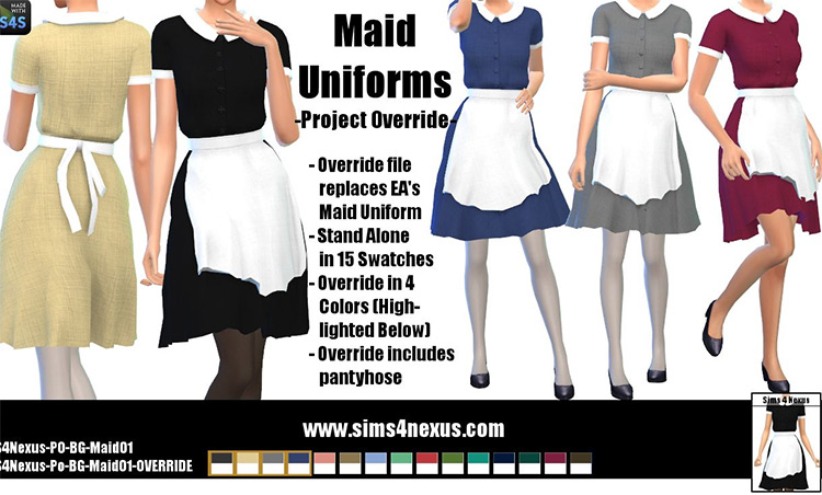 Override maid uniform CC