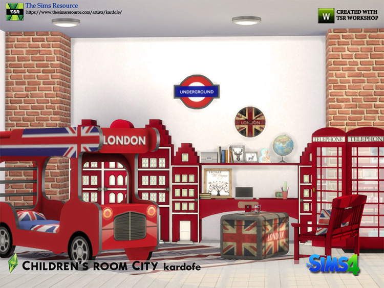 Childrens Room London CC for Sims 4