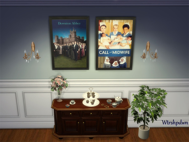 British TV Show Posters for Sims 4
