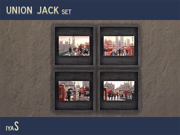 Union Jack Paintings Mod for Sims 4
