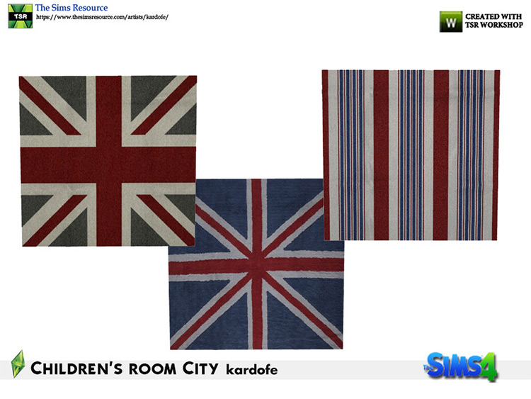 British Rug CC for The Sims 4