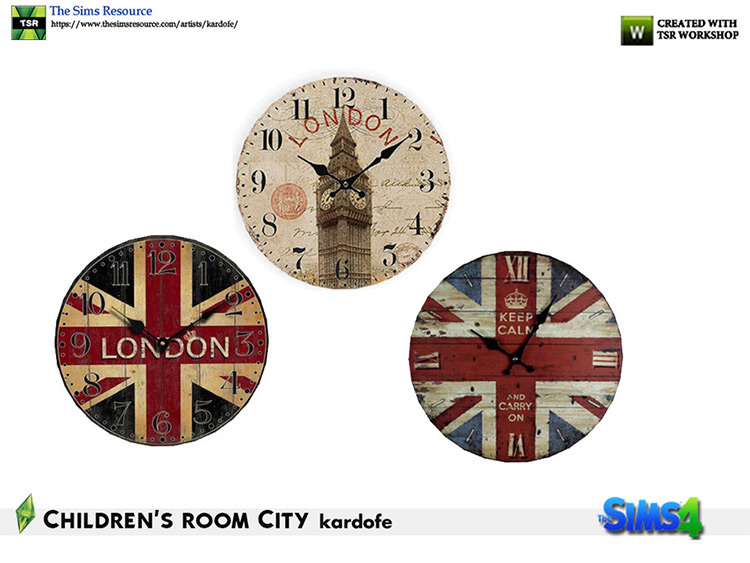 British Clock CC for The Sims 4