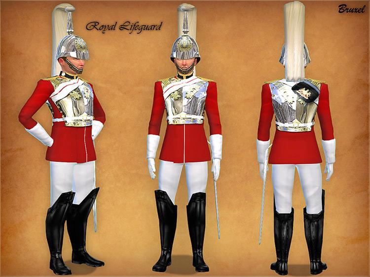 Royal Lifeguard Set for Sims 4